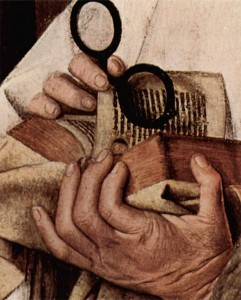 Jan van Eyck hands w book