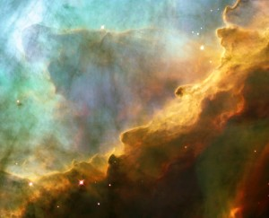 Omega_Nebula stars in the heavens w clouds Nasa WC pd