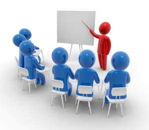 iStock professor lecture small group white board