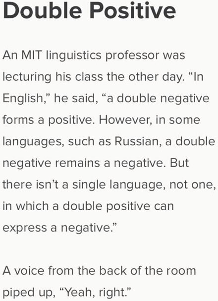 double positive linguistics
