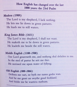 English 1000 years Psalm 23